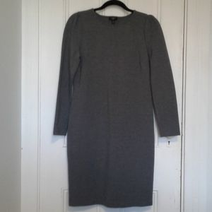 Talbots dress petites ladies grey sheath size 10p